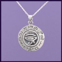 Egyptian Eye of Horus with Hieroglyphics